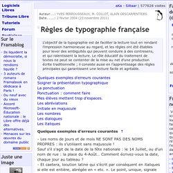Règles de typographie française - A propos du site - Framasoft
