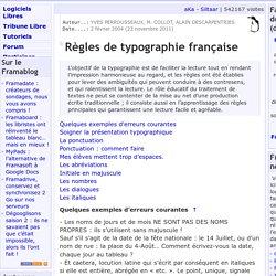 Règles de typographie française - A propos du site