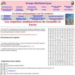 Les nombres:r glettes multisectrices de G naille et Lucas