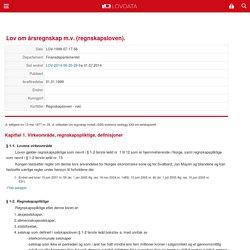 Lov om årsregnskap m.v. (regnskapsloven) - Kapittel 1. Virkeområde, regnskapspliktige, definisjoner - Lovdata