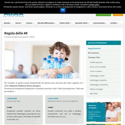 Regola delle 4R - Raccolta differenziata - Alisea