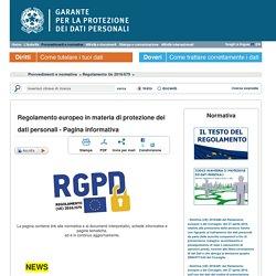 Regolamento Ue 2016/679 - Garante Privacy