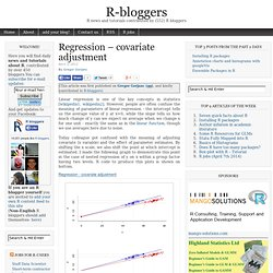 Regression – covariate adjustment