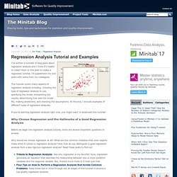 Regression Analysis Tutorial and Examples
