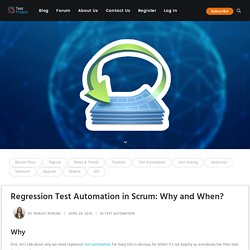 Regression Test Automation in Scrum: Why and When?