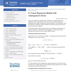 8.1 Linear Regression Models with Autoregressive Errors