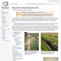 Régression et dégradation des sols