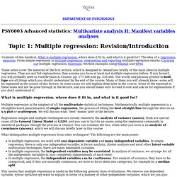 PSY6003 Multiple regression: Revision/Introduction