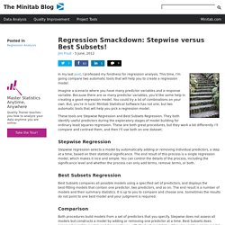 Regression Smackdown: Stepwise versus Best Subsets!