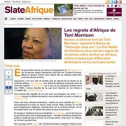 Les regrets d'Afrique de Toni Morrison