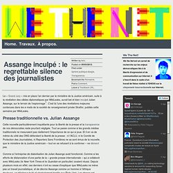 Assange inculpé : le regrettable silence des journalistes