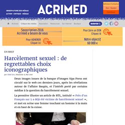 Harcèlement sexuel : de regrettables choix iconographiques