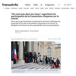 """9 déc. 2020 """"On n'est pas dans les clous"""", regrettent les participants de la Convention citoyenne sur le climat"""