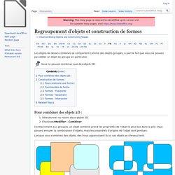 Regroupement d'objets et construction de formes