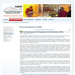 Le Regroupement Pédagogique Intercommunal (RPI) > Maires Ruraux de France