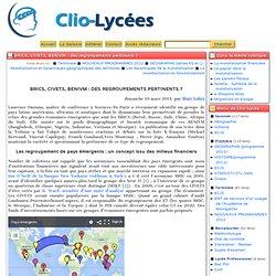 BRICS, CIVETS, BENIVM: des regroupements pertinents? - Clio-Lycée