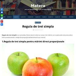 Regula de trei simpla - Matera