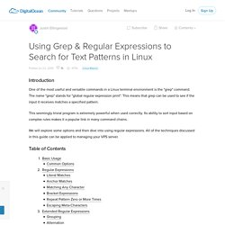 Using Grep & Regular Expressions to Search for Text Patterns in Linux