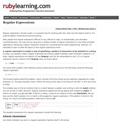 Ruby Regular Expressions: Ruby Study Notes - Best Ruby Guide, Ruby Tutorial