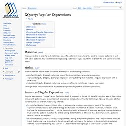 XQuery/Regular Expressions