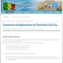 Commission de Régularisation de l'Electricité et de l'Eau - Mali