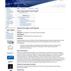 L'apprentissage autorégulé / fr - Thésaurus TeLearn
