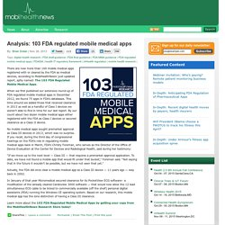 Analysis: 103 FDA regulated mobile medical apps