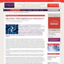 Open Data : l'Etat régulateur ou valorisateur