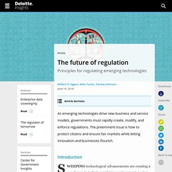 Regulating emerging technology