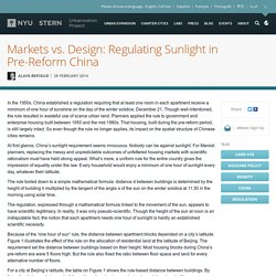 Markets vs. Design: Regulating Sunlight in Pre-Reform China