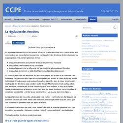 La régulation des émotions - CCPE