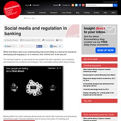 Social media and regulation in banking