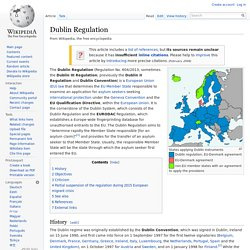 Dublin Regulation