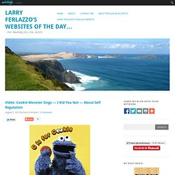 Video: Cookie Monster Sings — I Kid You Not — About Self Regulation