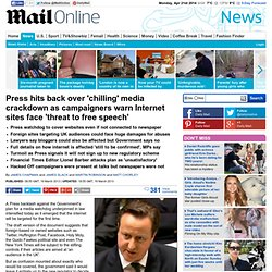 Press regulation: Internet targeted by MPs for first time 'in chilling threat to free speech'