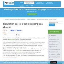 Régulation par loi d'eau des pompes à chaleur