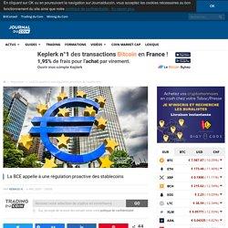 La BCE appelle à une régulation proactive des stablecoins