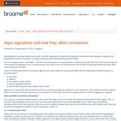 ITEPA Regulations and How they Affect Contractors