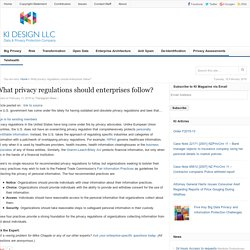 What privacy regulations should enterprises follow? - Ki Design Magazine