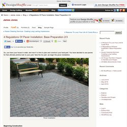 4 Regulations Of Paver Installation: Base Preparation 2/3