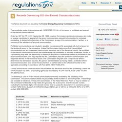 12.20.16... Records Governing Off-the-Record Communications [regulations.gov]