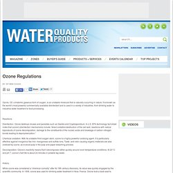 WATER QUALITY PRODUCTS - Ozone Regulations