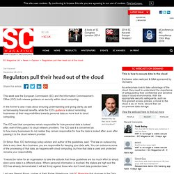 Regulators pull their head out of the cloud