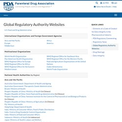 Global Regulatory Authority Websites