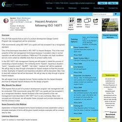 Hazard Analysis following ISO 14971