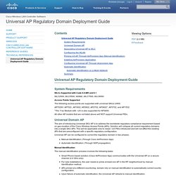 Universal AP Regulatory Domain Deployment Guide