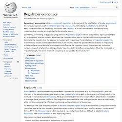 Regulatory economics