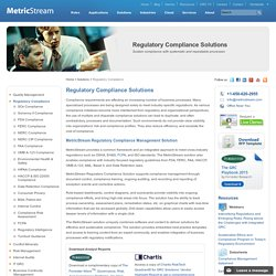Regulatory Compliance Software Solutions - MetricStream