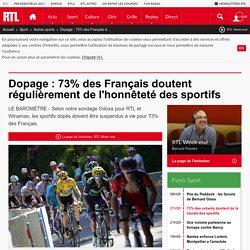 Dopage : 73% des Français doutent régulièrement de l'honnêteté des sportifs