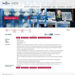 Regus - Job details